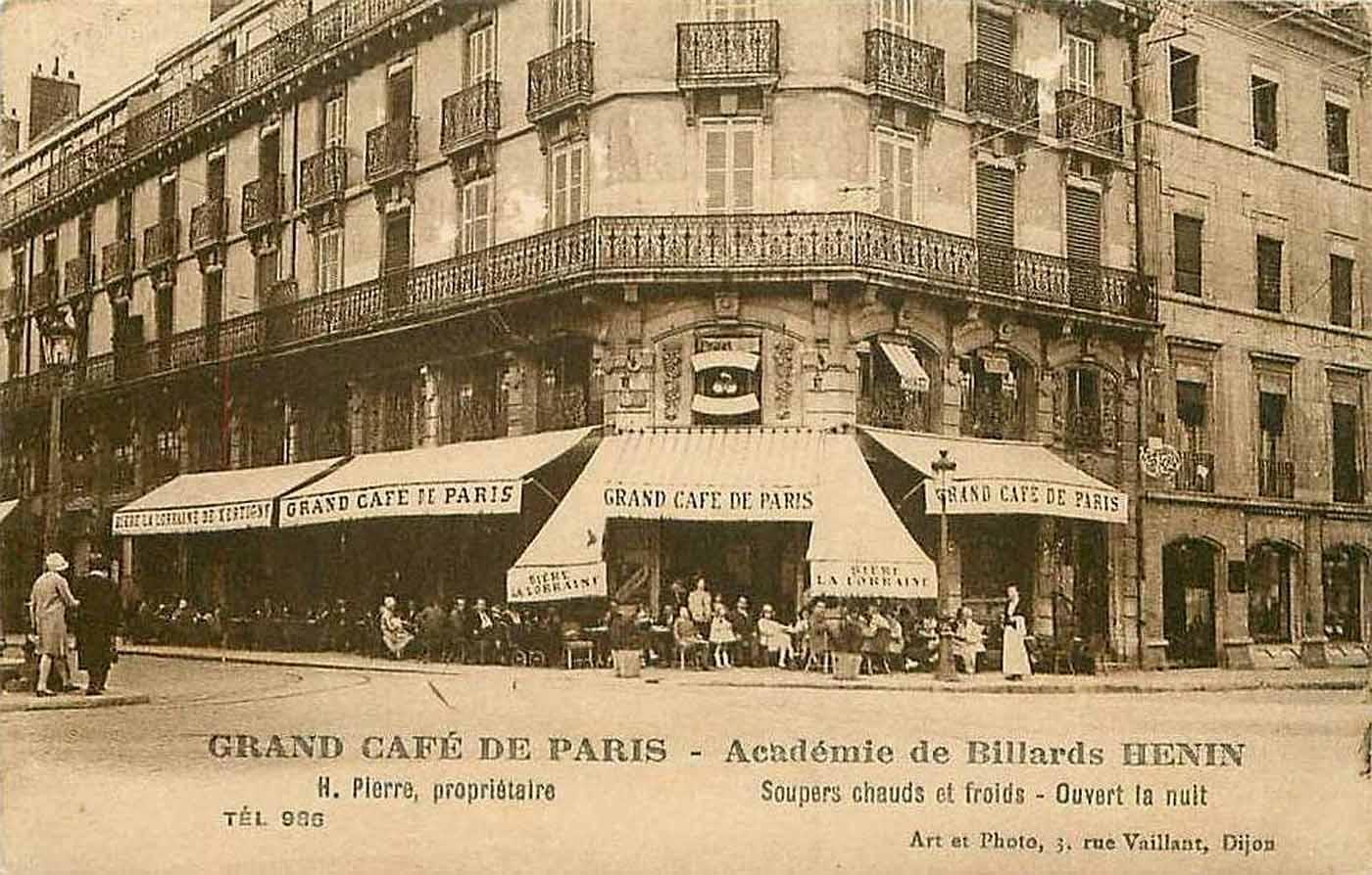 บรรยากาศร้านกาแฟ Grand Café ที่โรงแรมสคริบ - Hotel Scribe (Photo credit: www.pariscinemaregion.fr)