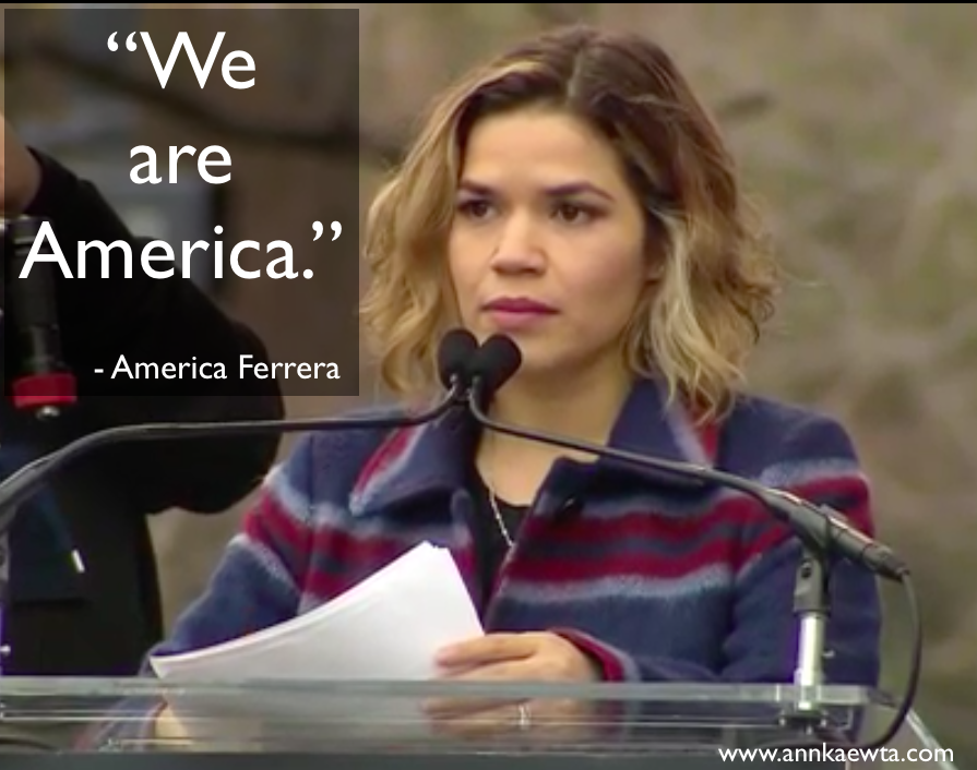 America Ferrera's at Women's March